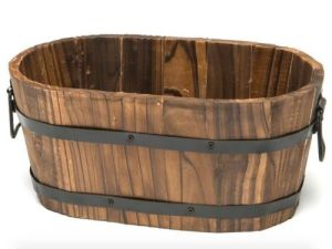 Cedar Wooden Whiskey Barrel Pot Planter Outdoor Deco pictures & photos
