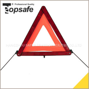 Plastic Red LED Warning Triangle Car Triangle Warning Sign pictures & photos
