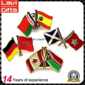 Factory Hot Sales Cross Flag Lapel Pin pictures & photos