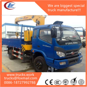 Forland 4X4 China Straight Light Crane on Cargo Truck pictures & photos