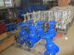 DIN Standard Cast Steel F7 Serial Non-Rising Gate Valve From Wenzhou Manufacturer pictures & photos