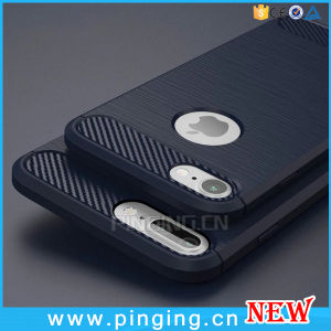 Carbon Fiber Cellphone Silicon Cases for iPhone 6/7 Plus Case pictures & photos
