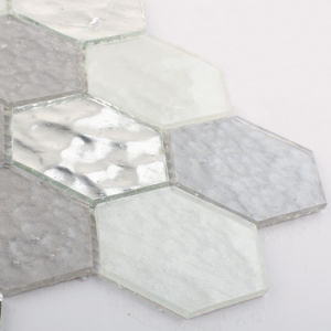Wholesale Bathroom Decoration Building Material Tile Hexagon Crystal Glass Mosaic pictures & photos