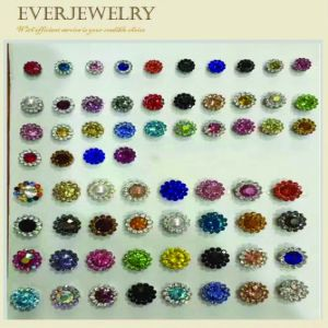 Shimmering Flower Crystal Colorful Glass Sewing Stone pictures & photos