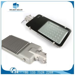 Pure White Automatic Control Half Power Solar LED Street Light pictures & photos