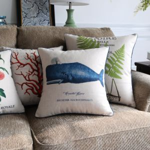 Cotton Linen Printed Decorative Pillow Set for Bedroom pictures & photos
