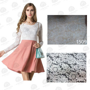 2016 New Design Fashion Cotton Elastic Trimming Lace