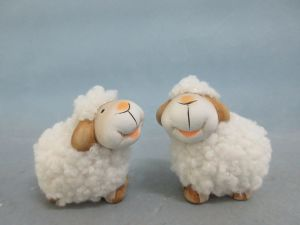 Sheep Ceramic Modern Home Decor Ceramic Figurine Art Craft (LOE2882-6.5)