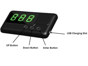 C60 Car Hud GPS Head Display Km / H Mph Overspeed Alarm Windshield Engineering Alarm System Speedometer pictures & photos