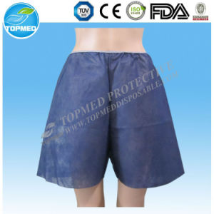 Disposable Hospital Disposable Panties, Nonwoven Examination Pants, Hospital Patient Pants pictures & photos