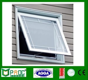 Aluminum Top Hung Window or Awning Window with Double Glass pictures & photos
