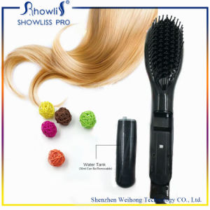 New Fashion Electric Steamer LCD Display Ceramic Heated Hair Brush pictures & photos