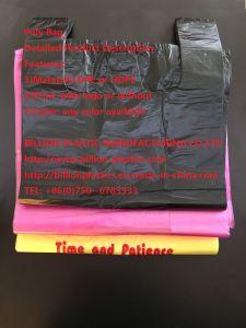 Poly Bag HDPE Bag T-Shirt Bag Handle Bag Garbage Bag Rubbish Bag T-Shirt Bag Carrier Bag Shopping Bag Polybag Gusset Bag pictures & photos