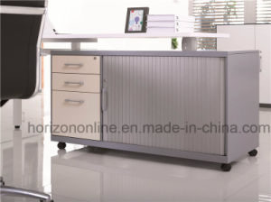Pedestal with 3 Drawers and Tambour Door with Shelf pictures & photos