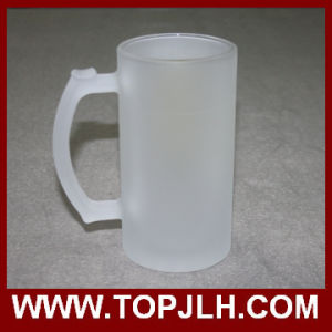 EXW Price Blank 16oz Frosted Glass Beer Mug pictures & photos