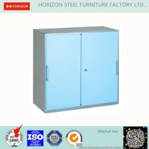 Metal Filing Cabinet with Upper and Lower 4 Sliding/Swinging Doors pictures & photos