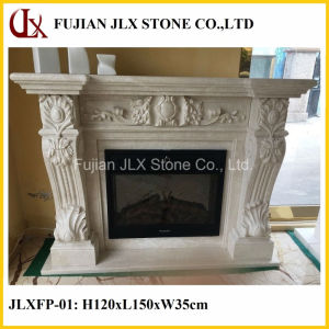 Natural Stone Marble Fireplace Mantel pictures & photos