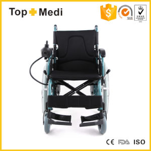 Topmedi Handicapped Automatic Lightweight Folding Electric Wheel Chair Prices pictures & photos