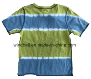 Beach Single Jersey Cotton T-Shirt for Boy with Tie Dye pictures & photos