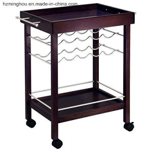 Factory Wholesale Hotel Bar Kitchen Portable Usage Wine Serving Cart pictures & photos