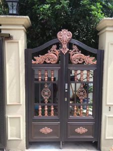 Cast Aluminum Security Garden Door Gate Door Villa Door pictures & photos