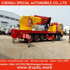 HOWO 8*4 380HP Heavy Duty Truck Mounted Crane pictures & photos