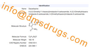 Dacarbazine [4342-03-4] Powder 200mg/2ml Vial Package Lyophilize Powder for Injection pictures & photos