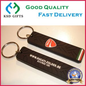 Custom Belgium Style 2D Rubber Keychain pictures & photos