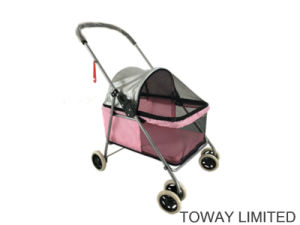 4 Wheel Scart Pet Strollers Outdoor Carrier Dog Trolley pictures & photos