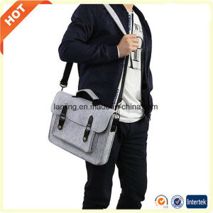 Factory Price Customize Wool Felt Leather Laptop Bag in China pictures & photos