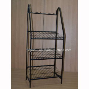 Multi Layers Metal Floor Display Stand for Retail Stores (PHY395) pictures & photos