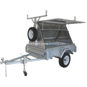 8X5 Fully Welded Box Trailer with Aluminum Tradesman Top pictures & photos