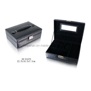 Classic Red PU Jewelry Storage Box with Gold Hardware pictures & photos
