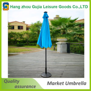 Round Waterproof Convenient Durable Straight Market Umbrella
