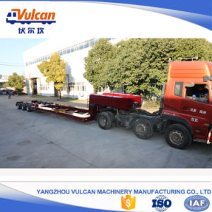 Tri Axle Tank Transport Hydraulic Low Bed Semi Truck Trailer
