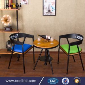 Wholesale Cheap Steel Vintage Industrial Retro Low Back Metal Cafe Chair pictures & photos