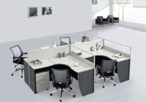 MDF Office Table with Screen with Mobile Cupboard Office Workstation pictures & photos