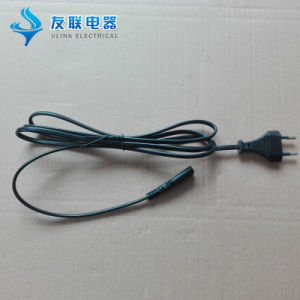 VDE Approved 2 Pin 2.5A Power Cord with C7 Connector pictures & photos