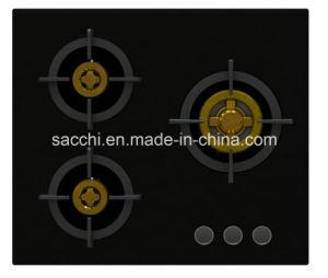 Supreme Unique 3 Brass Burner Gas Hob (8mm Glass) pictures & photos