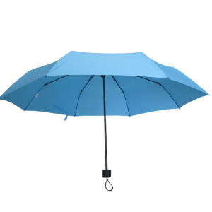 21inch Manual Open Pongee 3 Fold Umbrella (3FU012) pictures & photos