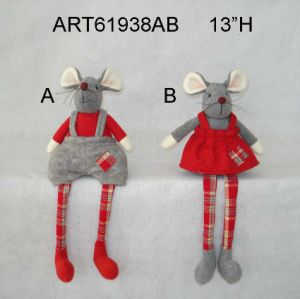 Christmas Decoration Shelf Sitter Mouse, 2 Asst pictures & photos