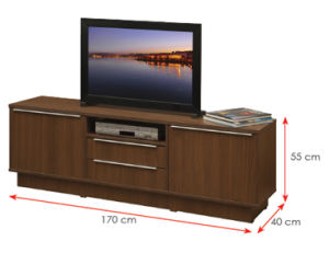 Modern MFC Laminated Wooden Cabinet TV Stands (HX-DR015) pictures & photos