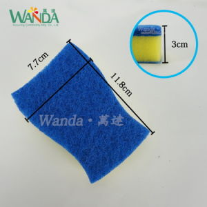Easy Grip Sponge Scourer with Non-Woven Scouring Pad pictures & photos