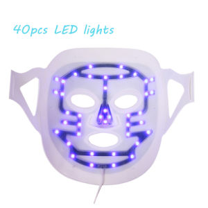 3 Color Blue/ Red/ Purple Professional LED Facial Mask for Skin Care and Acne Treatment pictures & photos