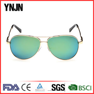 Ynjn High Quality Colorful Mirror Lenses Polarized Sunglasses (YJ-F8625) pictures & photos