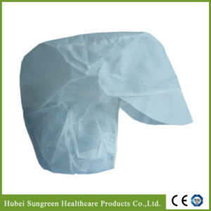 Disposable Non-Woven Snood Cap with Peak pictures & photos