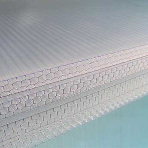 Building Construction Roofing Materials Polycarbonate Honeycomb Hollow Sheet with UV Coated pictures & photos