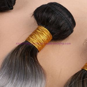 8A Grade Brazilian Grey Hair Weave Top Quality Body Wave Soft Ombre Human Hair Extensions pictures & photos