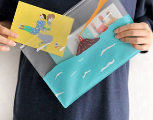 Environmental Protection PVC Bag Cute Cartoon Document Bag pictures & photos