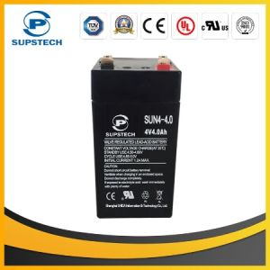 AGM Sealed Lead Acid Rechargeable Battery 4V 4ah Battery for Alarm System pictures & photos